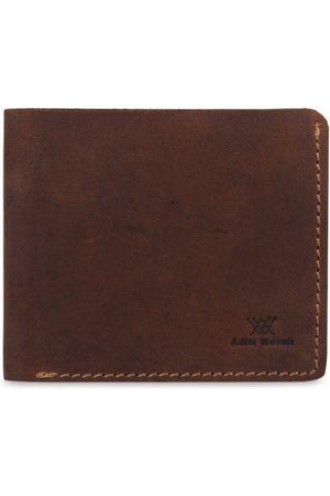 Aditi Wasan Men Brown Solid Two Fold Wallet