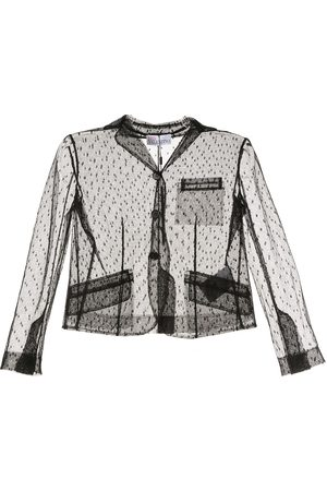 RED Valentino Sheer-sleeve buttoned jacket