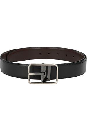 Calvadoss Men Black & Brown Solid Reversible Belt