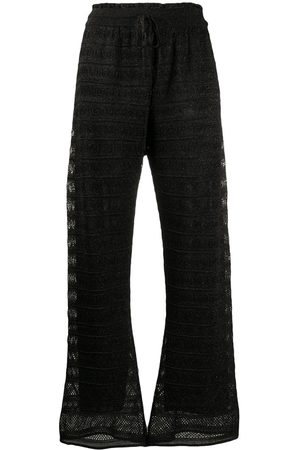M Missoni High-rise straight-leg knitted trousers