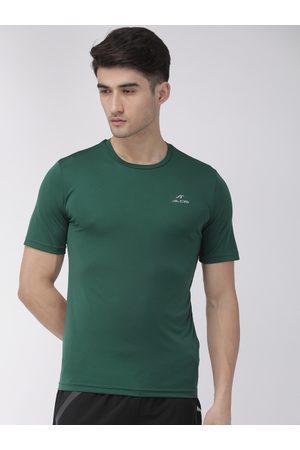Alcis Men Green Solid Round Neck T-shirt