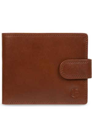 PURE LUXURIES LONDON Men Tan Brown Solid Two Fold Wallet