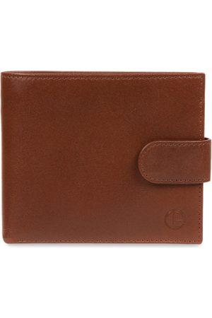 PURE LUXURIES LONDON Men Tan Brown Solid Genuine Leather Hooper Wallet