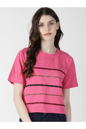 Aara Women Pink Striped Top
