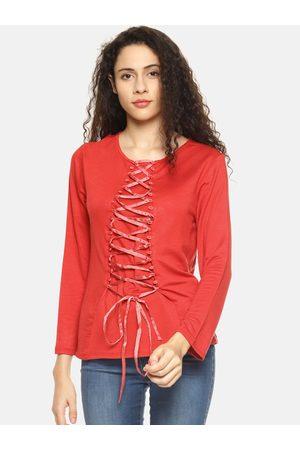 Aara Women Red Solid Top