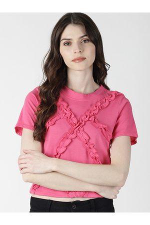 Aara Women Pink Solid Top
