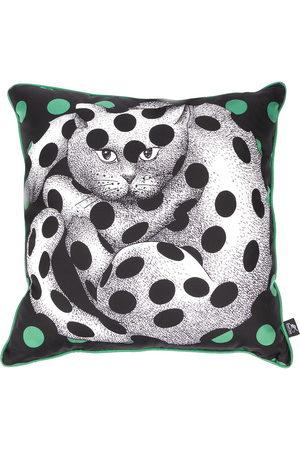 FORNASETTI Cat-print pillow