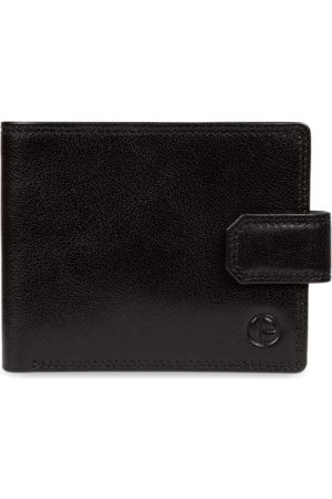 PURE LUXURIES LONDON Men Black Solid Genuine Leather Farrell Wallet