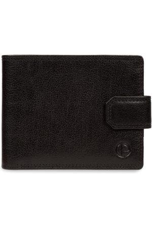 PURE LUXURIES LONDON Men Black Solid Genuine Leather Brodie Wallet