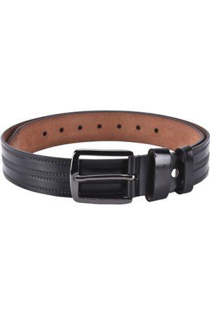 BuckleUp Men Black Solid Belt