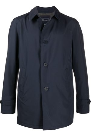 HERNO Point-collar button-through coat