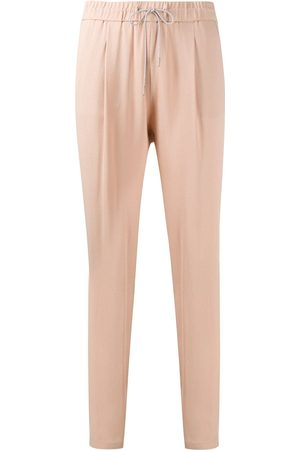 Fabiana Filippi Brass-embellished drawstring trousers