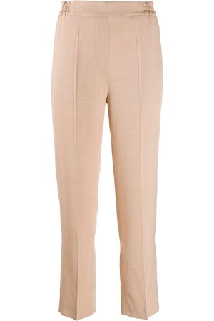Etro Elasticated straight leg trousers