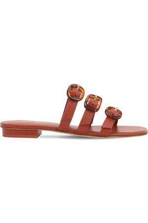 Cult Gaia Women Flats - 10mm Tallulah Leather Flat Sandals