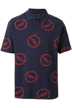 MARTINE ROSE Baba logo print polo shirt