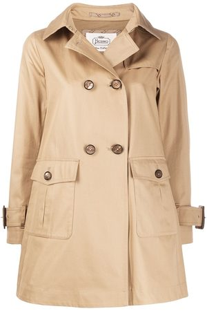 HERNO Women Trench Coats - Patch-pocket trench coat