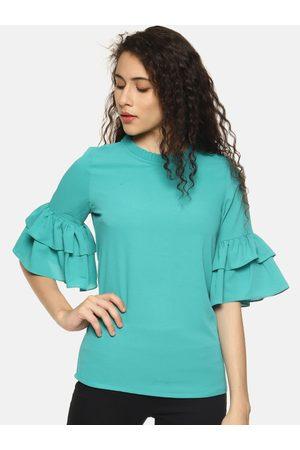 Aara Women Green Solid Top