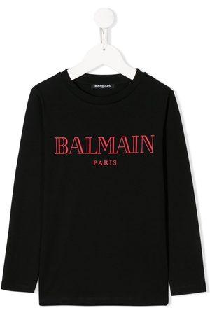 Balmain Long sleeve logo print T-shirt