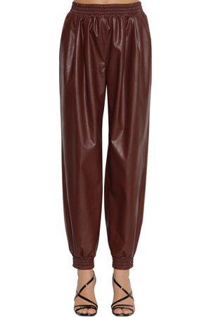 Msgm Boxy Faux Leather Pants