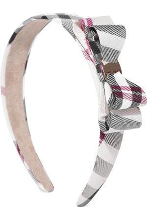 PRITA Black & Beige Checked Hairband