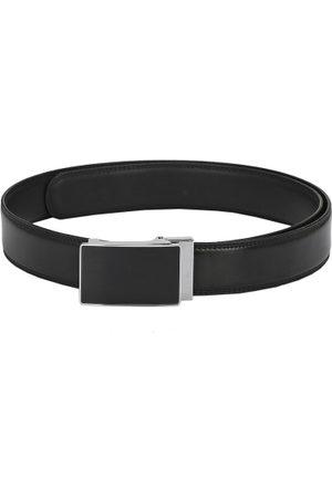 Pacific Men Black Solid Leather Belt
