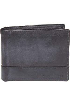 Lino Perros Men Navy Leather Solid Two Fold Wallet