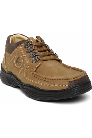 Red Chief Men Camel Brown Leather Casual Shoes