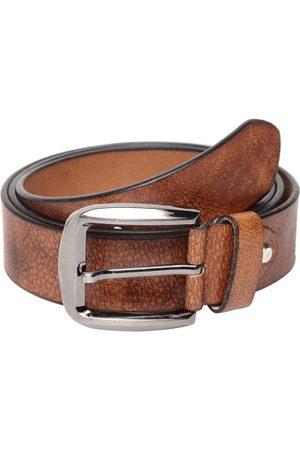Teakwood Leathers Men Tan Brown Textured Belt