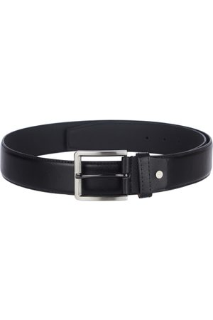 KARA Men Black Smart Casual Solid Faux Leather Belt
