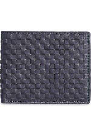 KARA Men Black Leather Textured Two Fold Wallet