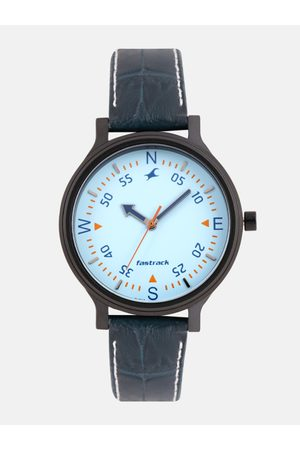 Fastrack Women Blue Genuine Leather Analogue Watch 6189NL03