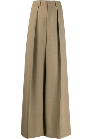 Ami Wide fit pleated trousers