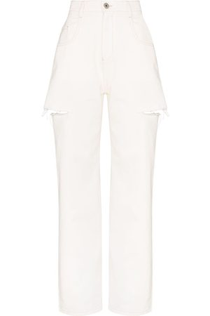 Maison Margiela High-rise distressed jeans