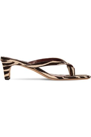 Staud 55mm Audrey Printed Ponyskin Sandals