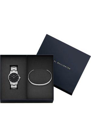 Daniel Wellington Unisex Black Analogue Watch With Cuff Bracelet Watch Gift Set