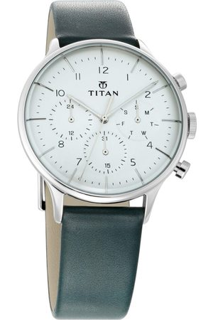 Titan Light Leathers Men White Analogue watch 90102SL03