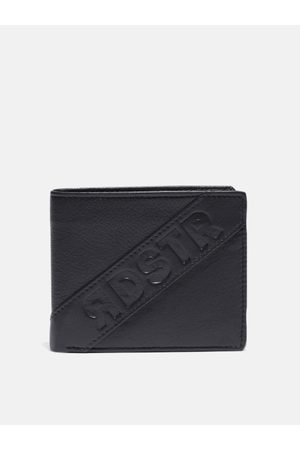 Roadster Men Navy Blue Solid Leather Two Fold Wallet