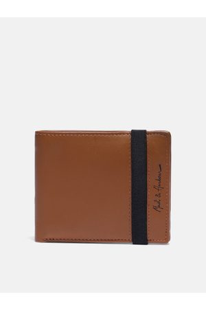 Mast & Harbour Men Tan Solid Leather Two Fold Wallet
