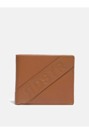 Roadster Men Tan Brown Solid Leather Two Fold Wallet