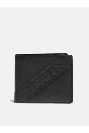 Roadster Men Black Solid Leather Two Fold Wallet