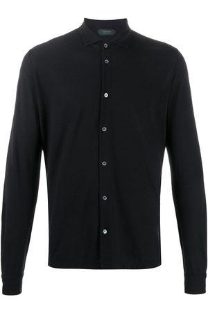 ZANONE Men Long Sleeve - Regular-fit cotton shirt