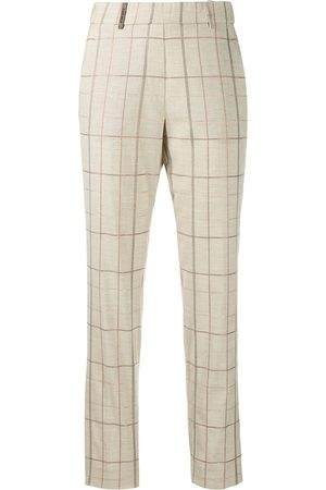 PESERICO SIGN Checked straight trousers