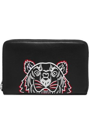 Kenzo Tiger Leather Zip Wallet