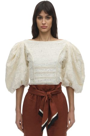 JOHANNA ORTIZ Embroidered Cotton Voile Top