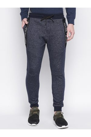 Mufti Men Navy Blue Solid Slim-Fit Joggers