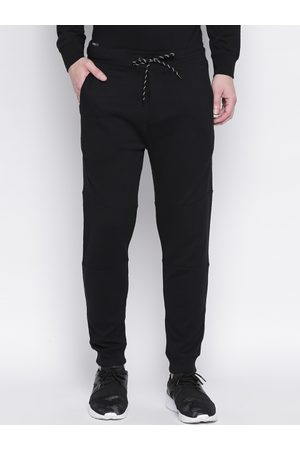 Mufti Men Black Solid Slim-Fit Joggers