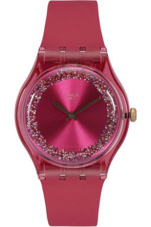 Swatch Unisex Pink Swiss-Made Analogue Watch SUOP111