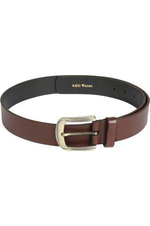 Aditi Wasan Men Brown Genuine Leather Solid Belt