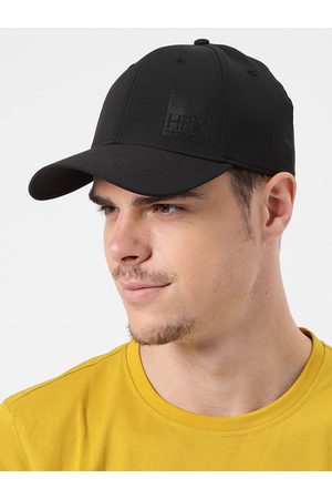 HRX Men Black Solid Baseball Cap