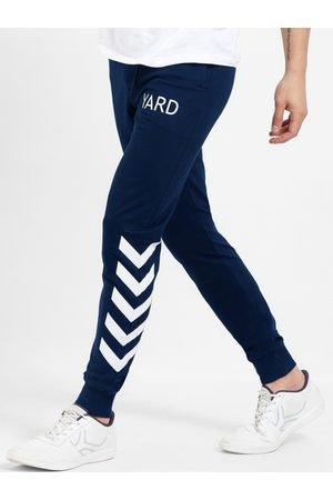 Maniac Men Navy Blue Solid Joggers
